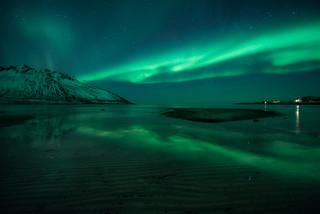 Lights in a dark fjord