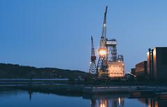 Nymo wharf (Ivan Mæland) Tags: wharf nymo jjugland ugland norway arendal construction oilandgas industry water building sky tower bay