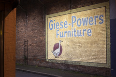 Giese-Powers Furniture (Curtis Gregory Perry) Tags: salem oregon gives powers furniture night long exposure mural wall brick nikon d810