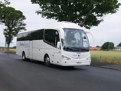 Ratho Coaches of Newbridge Scania K360IB4 Irizar i6 YN15ELO at Dirleton Avenue, North Berwick, on 13 July 2018. (Robin Dickson 1) Tags: rathocoachesofnewbridge eastlothianbuses irizari6 scaniak360ib4 yn15elo