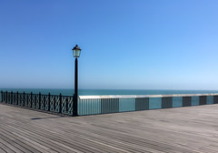 Which way ? (Mellisapix) Tags: ocean opensea option choice direction space open way path routes minimalist seascape sea design hastings pier lamppost lamp post railing fence