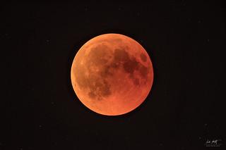 Blood moon & stars
