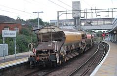 JJA Bogie Autoballaster 12988 . (AndrewHA's) Tags: bishopsstortford hertfordshire railway station trains train engineers wagon network rail jja bogie autoballaster 12988 yellow rfs industries