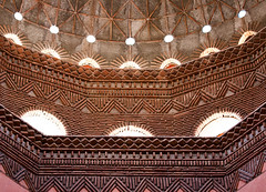 Rotunda Renovation (jarhtmd) Tags: africa morocco marrakesh canon eos70d architecture building bldg bldgdetail ceiling detail dome bricks construction red theater