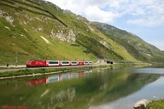 "MGB HGe 4/4"" 107 ""Grimsel"" (Bradley Morey) Tags: mgb matterhorngotthardbahn hge44 oberalp oberalppass uri glacier express gex trainspotting switzerland suisse schweiz svizra svizzera alpes"
