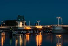 Klappbrücke in Kappeln (wernerlohmanns) Tags: langzeitbelichtung nachts blauestunde nikond750 klappbrücke kappeln schlei ostsee balticsea