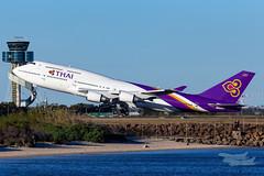 HS-TGB TG B747 34L YSSY-4545 (A u s s i e P o m m) Tags: thai mascot newsouthwales australia au thaiairways tg boeing b747 syd yssy sydneyairport queenoftheskies