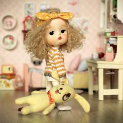 Good morning! (Passion for Blythe) Tags: morning secretdoll secretdollmong yellow bjd tiny cute doll bunny