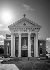 Saint Monica's [Catholic] Church - Cameron, Texas (lonestarbackroads) Tags: building architecture church catholic christian texas