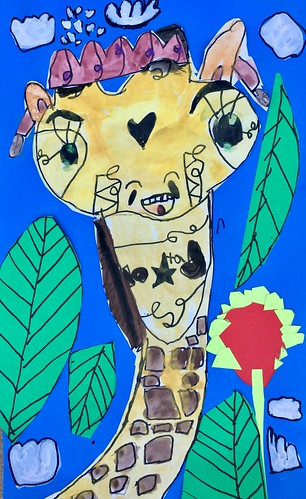 """1st grade African Giraffe Paintings #giraffe #drawing #painting #art #collage #1st #1stgrade #arteducation • <a style=""""font-size:0.8em;"""" href=""""http://www.flickr.com/photos/57802765@N07/28958085827/"""" target=""""_blank"""">View on Flickr</a>"""
