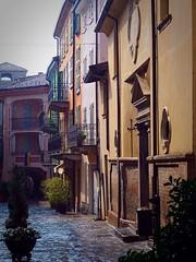 Rain and evening light in Varzi, Italy (marionvankempen) Tags: italy throughherlens