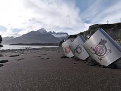 Vikings (Eric_Lumix GX80) Tags: hipflask iceland island nature black beach mountain sea whiskey sand gx80 landscape