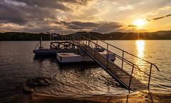 Z Orlické přehrady. (Robert Hájek) Tags: sky clouds sun pond czphoto czechrepublic sonya7ii evening sunset sony landscape