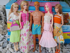 Barbie outside hippies (modcasey) Tags: barbie hippie dolls for photo challenge divas theme