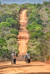 Walking uphill in northern Mozambiqe