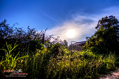 The Gate (1300 Photography) Tags: nikon 20mm d750 outdoors barn gate moon nightphotography nightsky night longexposure lightpainting