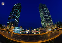 Torres Gemelas HDR-I_03476 (enricvision) Tags: bcn nocturnas port portolimpic hotelars torremafre horaazul barcelona samyang8mm