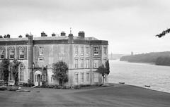 The old castle   Wales   (Pierre_1700) Tags: basics england film1809 id11 ilfordfp4 plasnewydd castle black white blackwhite history monuments bridge clouds dusty