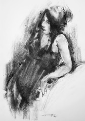 P1018527 (Gasheh) Tags: ar painting drawing sketch portrait figure girl line pen charcoal gasheh 2018
