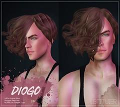 {Letituier} Diogo Hair - The MEN JAIL EVENT!! (Nayomi Gartner) Tags: letituier hair fashion designers themenjail event secondlife slmodels supermodel summer spring nayomigartner nayomi