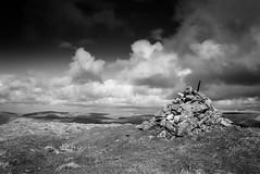 Eldon Hill (l4ts) Tags: landscape derbyshire peakdistrict whitepeak limestone eldonhill cairn southhead chinleychurn crackenedge blackwhite monochrome cloudscape clouds