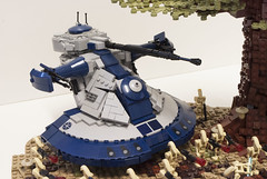 Clone Wars: Defenders of Peace (Ben Cossy) Tags: lego moc clone wars star war tree dave filoni droid anakin skywalker ahsoka tano battle tfol afol tank aat
