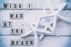 110/365: Wish I was at the beach (judi may) Tags: 365the2018edition 3652018 day110365 20apr18 april2018amonthin30pictures starfish wood letters alphabetletters frommycraftstash texture textures flatlay stilllife canon7d soft softness