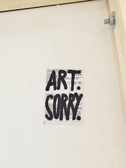 Art.Sorry. (Lexis Kraft Design) Tags: stickerart art