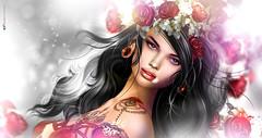 Λυяα ⚘ La vie en... rose! ⚘ (AyE ღ I'м α vιѕιoɴΛЯT) Tags: digitalart digitalpainting digitalportrait digitalfantasy painting artworks portraits beauty illustrations artportrait ritratto retrato portrature dreamy vision magical emotionalart emotional aurameads