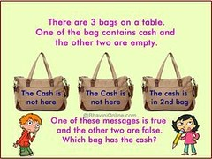 #purse #handbag #accessories #women #ladies #fashion #bag #children #kids #youngsters #boy #girl #straps #style #cash #money #yellow #puzzle #riddle #brainteaser #brain #teaser #challenge #mindexercise #mind #exercise #think #pencil #school #education (mcdomainer) Tags: reasoning ladies handbag style boy brain deduction mind youngsters math smart accessories fun riddle teaser straps mindexercise deductivereasoning school brainteaser money fashion pencil girl bag puzzle think kids purse children family mathematics deductive yellow exercise cash women challenge