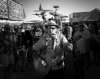 024693763313-97-One Man Band at the Clark County Fair and Rodeo-1-Black and White