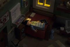 Fast Asleep (Ben Cossy) Tags: zzz lego moc afol tfol legography photography photoshop sleep nightmare dream minifig minifigure fig figure pj pjs peejays pajamas bed bedhair sunlight night time room