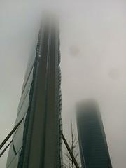 Allianz Towers (HungryArtistMadCow) Tags: city urban fog prespective allianz milan itaky italy