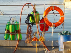 Working boat gear (desert11sailor) Tags: gloucester massachusetts harbor morning seaport ocean
