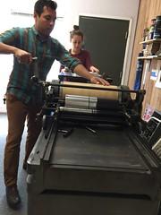 Edgar and Mallory printing (artnoose) Tags: california berkeley bayarea summer invitations wedding printing mallory edgar vandercook letterpress