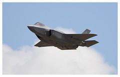 US Air Force Lockheed Martin F-35 Lightning II. (15-5125) (Ciaranchef's photography.) Tags: f35lightningii f35 riat riat18 airshow usaf nikonaviation nikond7000 tamron150600 airplanes airdisplay aeroplanes flyingdisplay