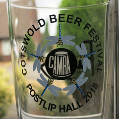 Dragonflies logo on the Cotswold Beer Festival 2018 pint glass (Phil Heneghan) Tags: img1823 cotswoldbeerfestival postliphall winchcombe gloucestershire uk summer july 2018 camra beerfestival cotswolds beerglass dragonflies dragonflylogo camracotswoldbeerfestival2018logo cotswoldbeerfestivalpostliphall2018logo canonpss11020180727 beerfestivalglass