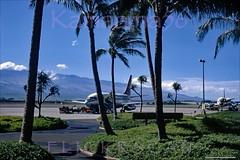 Aloha 737 & Viscount Kahului 1971 (Kamaaina56) Tags: 1970s kahului maui airport aircraft b737 viscount hawaii slide