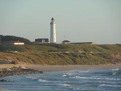 Hirtshals Fyr vom Hafen aus im Abandlicht (achatphoenix) Tags: hirtshals dänemark danmark denmark juli vendsyssel leuchtturm lighthouse fyr phare