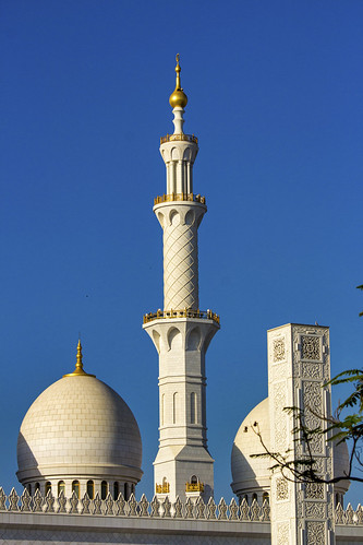 Minaret and domes, Sheikh Zayed Mosque, Abu Dhabi