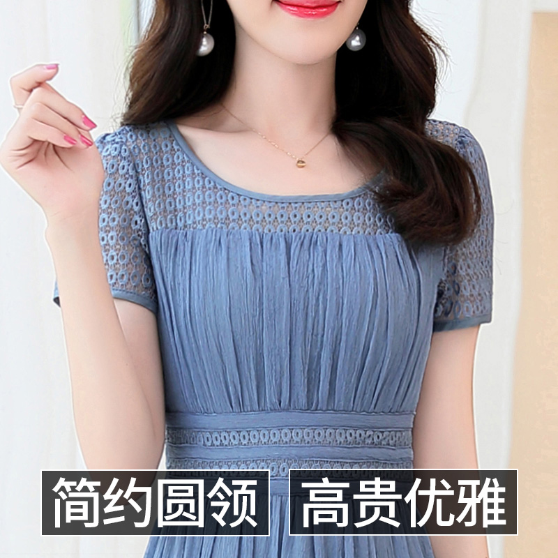 Chiffon dress female summer 2018 new lazy wind lady waist waist show thin temperament summer wear belly skirt