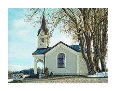 New Chapel in Bavaria (memories-in-motion) Tags: chapel bavaria schwindkirchen analog film rollfilm 120 kodak portra400 portra zenza bronica etrsi winter snow architecture church