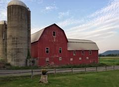 Upstate Farm After Sunset (LJS74) Tags: silo ruralscene goldenhour clouds landscape fingerlakes upstatenewyork farm sunset barn