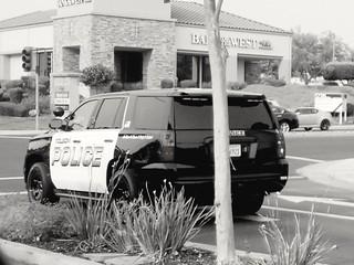 Folsom Police Chevrolet Tahoe B&W