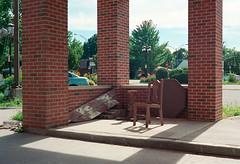 untitled-32 (dvlmnkillatron) Tags: 35mm canonet film kodak portra chair brick kodakportra urbana analog selfdeveloped