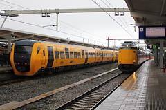 2017-12-09; 0074. DM90-2-3443 en DM90-2-3445  als trein 7944, ICM-3-4060 en ICM-3-4011 als trein 641. Zwolle. Laatste dag DM 90 Buffels. (Martin Geldermans; treinen, Züge, trains) Tags: zwolle dm90 buffel trein train zug nederlandsespoorwegen ns kamperlijntje kampen icm