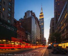 The fun after Manhattanhenge (ericjmalave) Tags: 100d 2018 canon manhattanhenge newyork nyc sl1 summer2018 sunset twilight canonsl1sigma1020 wide city architecture empirestatebuilding cartrails glow