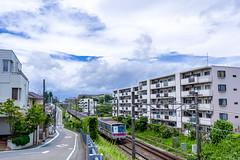 IMGP1223 (aquichang) Tags: landscape snap suburbs bluesky japan train 風景 スナップ 青空 郊外 鉄道
