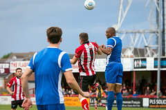 Altrincham FC vs Salford City - July 2018-115 (MichaelRipleyPhotography) Tags: altrincham altrinchamfc altrinchamfootballclub alty ball community fans football footy friendly goal header jdavidsonstadium kick mosslane nationalleaguenorth nonleague pass pitch preseason referee robins salfordcity save score semiprofessional shot soccer stadium supporters tackle team vanarama