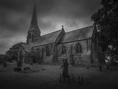 The Church in mono (Brad@Shaw) Tags: canon canonef1635mmf4lisusm 5dmkiv 5d4 5div cloudy dark moody church building architecture stone graveyard blackwhite blackandwhite bleak mono monochrome